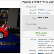 Porsche GT3 RSR Flying Lizard für 249 Euro
