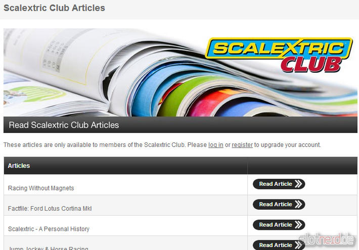 Scalextric Club Artikel