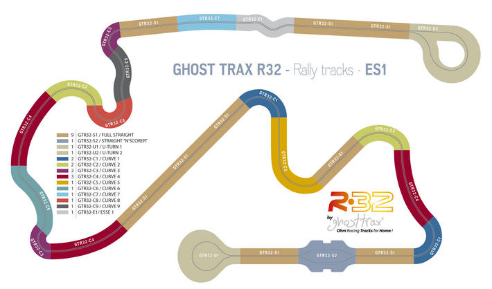 Ghost Trax - RALLY 32 PACK 1 Streckenplan