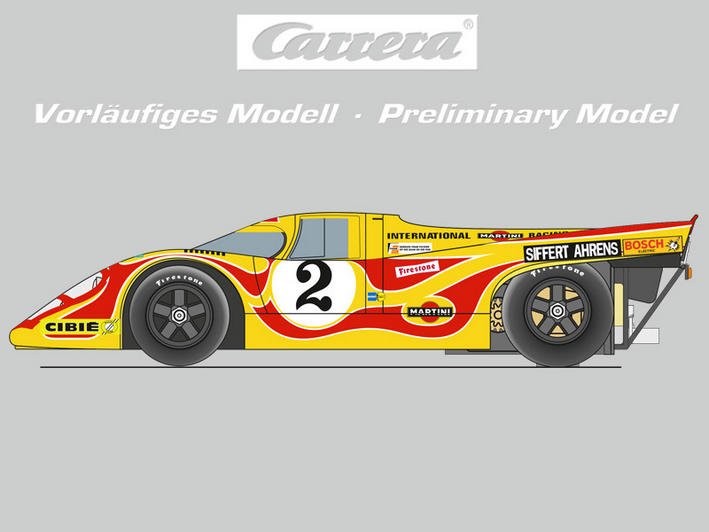 "Carrera DIGITAL 124 Porsche 917K ""Hippie"" von links"