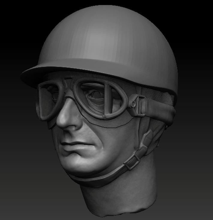 Juan Manuel Fangio Fahrerkopf