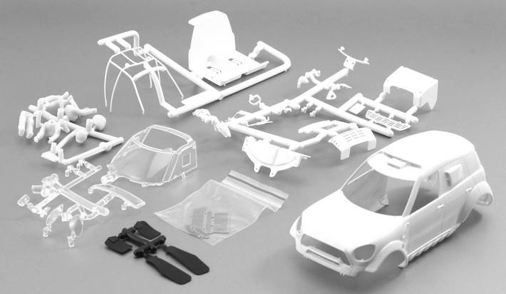 Scaleauto - Mini X-Raid All4 Racing White Kit (SC-3615) Bausatz