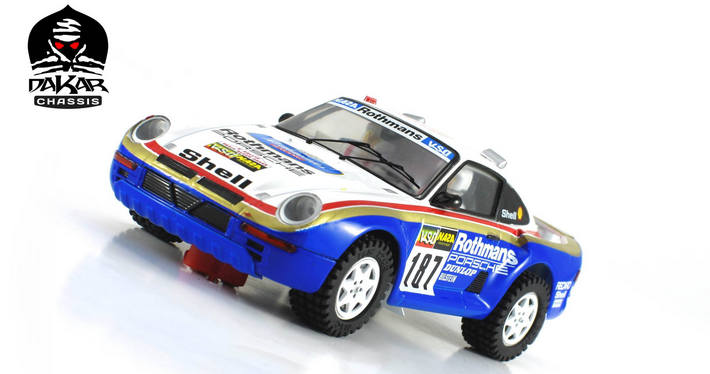 Scaleauto - Porsche 959 Raid Dakar 1986 #187 - links