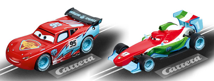 Carrera Go!!! - Cars Ice McQueen und Francesco