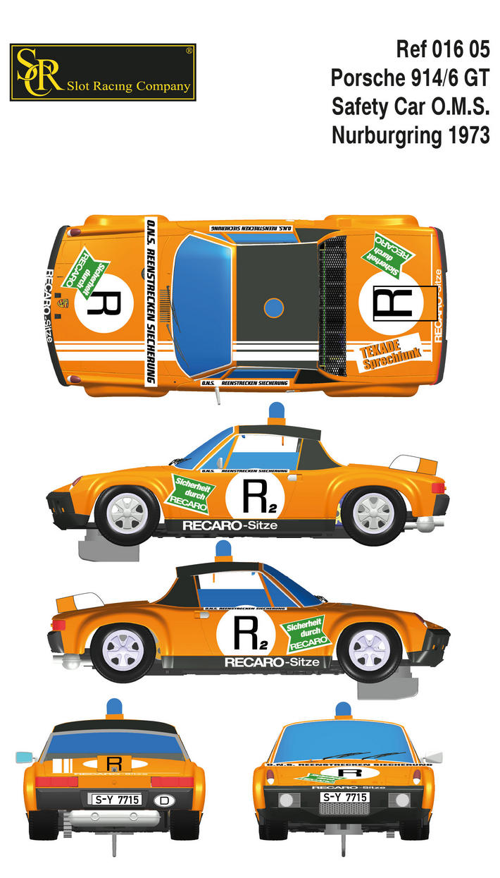 SRC - Porsche 914/6 GT - Nurburgring 1973 - Safety Car O.M.S.  Collage