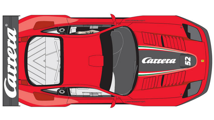 DIGITAL 124 Limited Edition 2015 - Ferrari 575 GTC 'Carrera' (23815) von oben