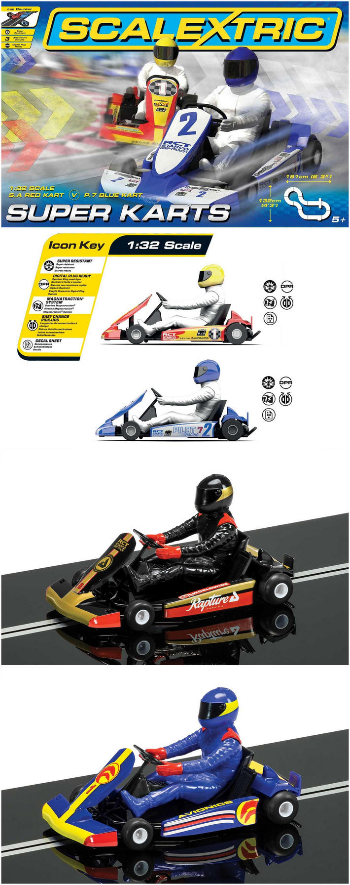 Scalextric Super Karts Kollage
