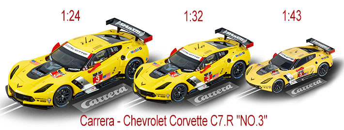 "Carrera - Chevrolet Corvette C7.R ""NO.3"" in drei Größen"