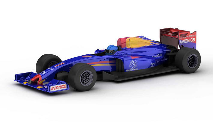 Scalextric - Blue Racer