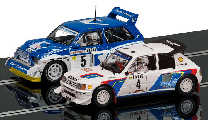 Scalextric - Classic Collection Peugeot 205 T16 E2 & MG Metro 6R4 (C3590A)