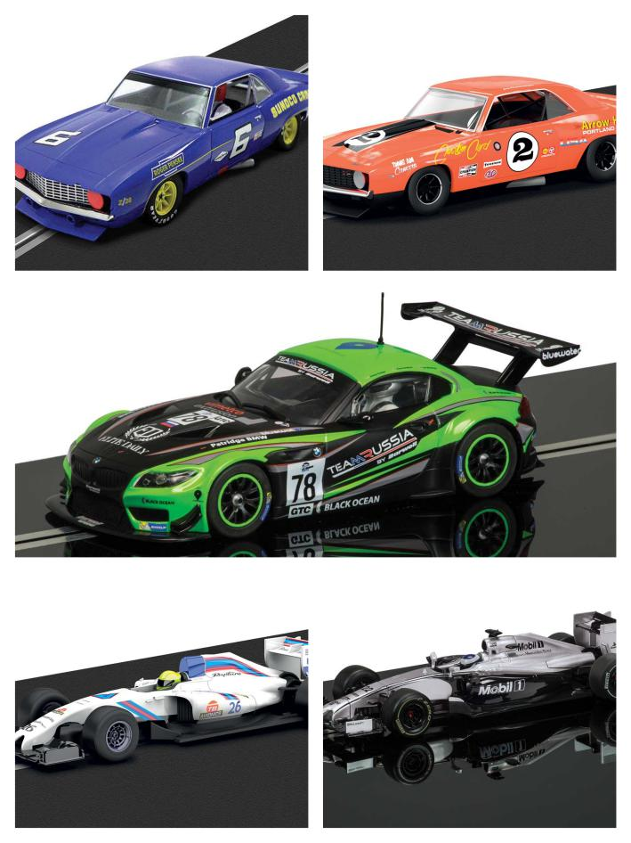 5 Scalextric Autos Oktober 2015 Collage