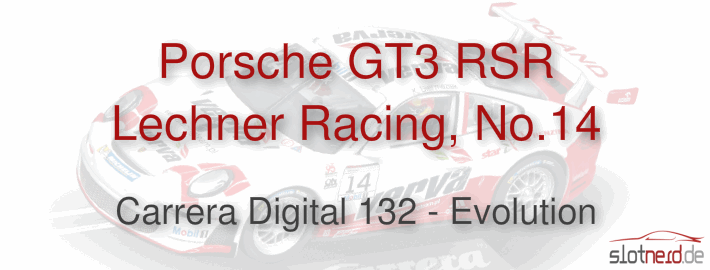 Carrera Digital 132 - Porsche GT3 RSR Lechner Racing, No.14 (30727)