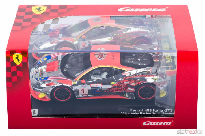 Carrera DIGITAL 124 - Ferrari 458 GT3 Clearwater Racing No.1 (23822) verpackt