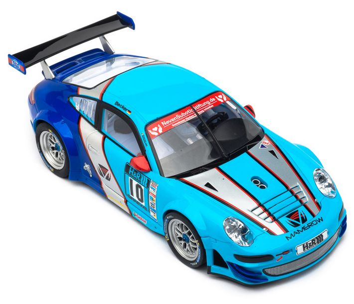 "Carrera Digital 124 - Porsche GT3 RSR ""Team Mamerow, ""NO.10"" (23827) von oben"